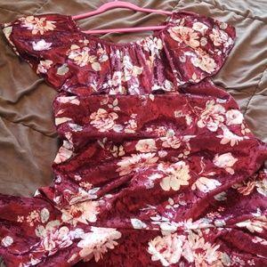 Velvety off- shoulder LuLaRoe Cici dress